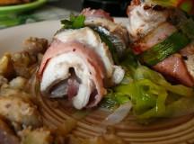 Рибно ястие – ципура на  ролца с праз и кестени