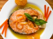 Рецепта за сьомга с портокалов сос